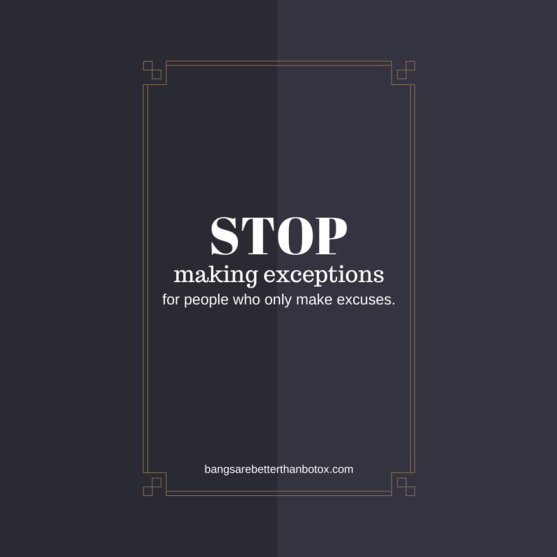 stop making exceptions